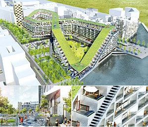 Un immeuble ville copenhague design by bjarke ingels for Piscine entre 2 immeubles